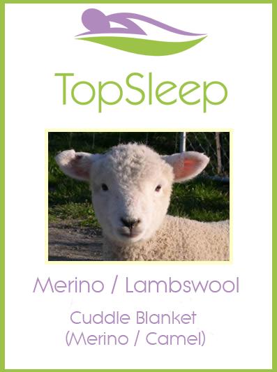 Cuddle Blanket - Merino/Camel